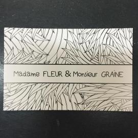 MADAME FLEUR & MONSIEUR GRAINE