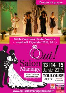 Dossier de presse Défilé Créations Haute Couture, Salon du Mariage de Toulouse 2017