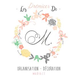 Logo Les prémices de M, organisation, décoration, mariage