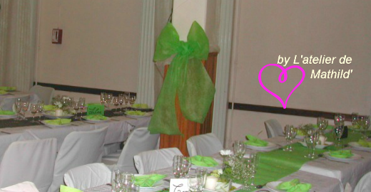 L'Atelier de Mathild', décor de mariage