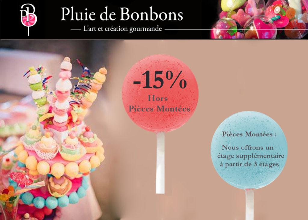 Pluie de Bonbons, Offre Ventes Privées VIP 2018, Oui! Salon Mariage Toulouse