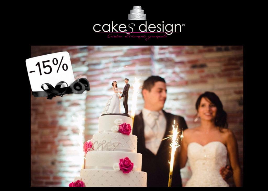 Cakes Design, Wedding cakes, Offre Ventes Privées VIP 2018, Oui! Salon Mariage Toulouse