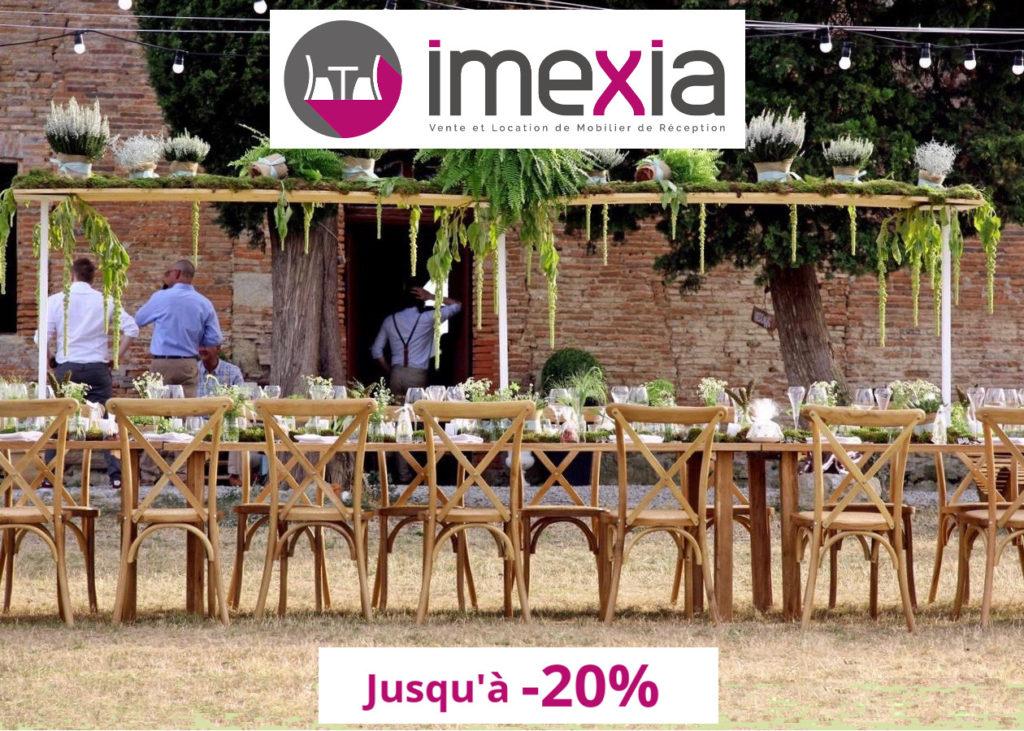 Imexia, vente et location de mobilier de réception, Offre Ventes Privées VIP 2018, Oui! Salon Mariage Toulouse
