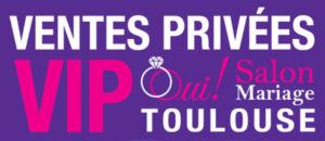 Logo violet Ventes Privées VIP 2018, Oui! Salon Mariage Toulouse