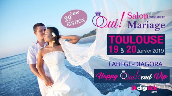 Oui! Salon Mariage Toulouse, 29ème édition, DIagora Labège, 19 & 20 janvier 2019
