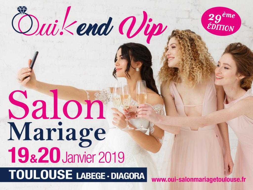 Affiche 9ème Salon Mariage Toulouse Diagora Labège 2019