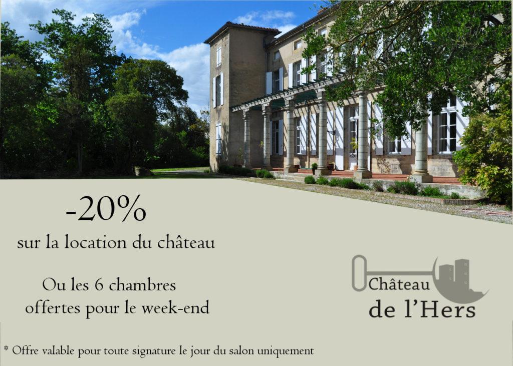 Offre InOui! Château de l'Hers Oui! Salon Mariage Toulouse Diagora Labège 2019
