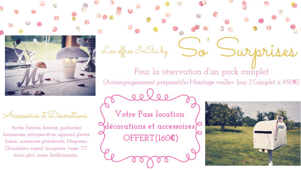 Offre InOui! So Surprises Salon Mariage Toulouse Labege