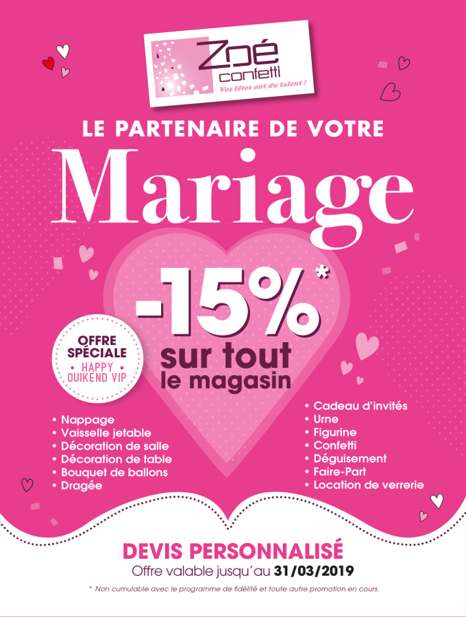 Zoé Confetti, le partenaire de votre mariage, Ventes Privées VIP 2018, Oui! Salon Mariage Toulouse