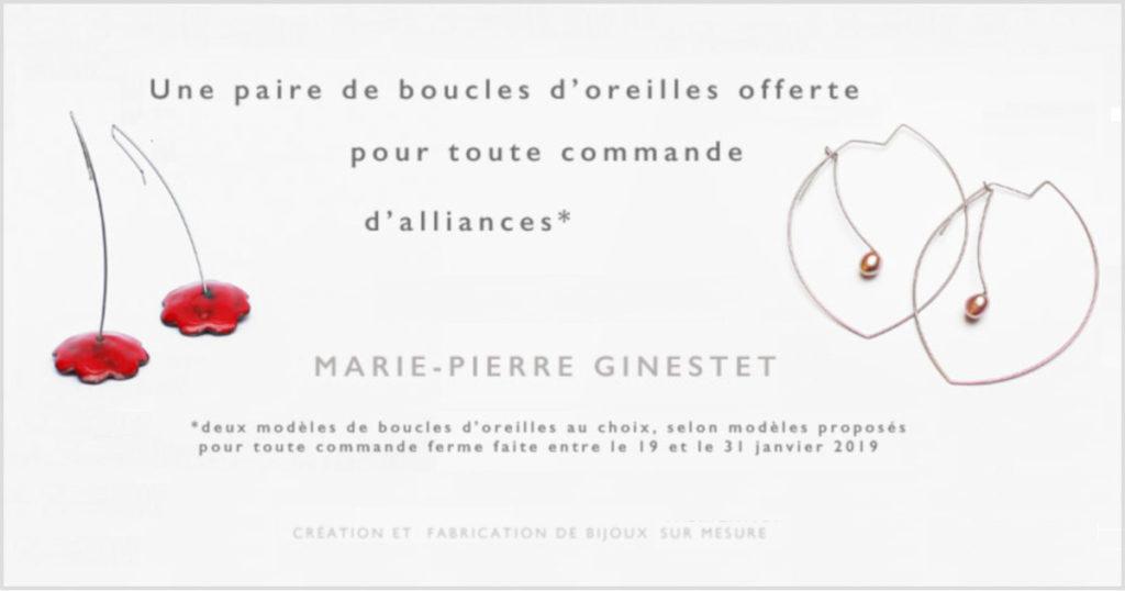Gineste Marie-Pierre Bijoux, offre Inoui! 2019, Oui! Salon Mariage Toulouse