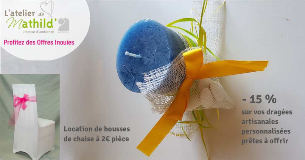 """L'Atelier de Mathild"""", Offre Inoui 2019, Oui! Salon du Mariage de Toulouse"""