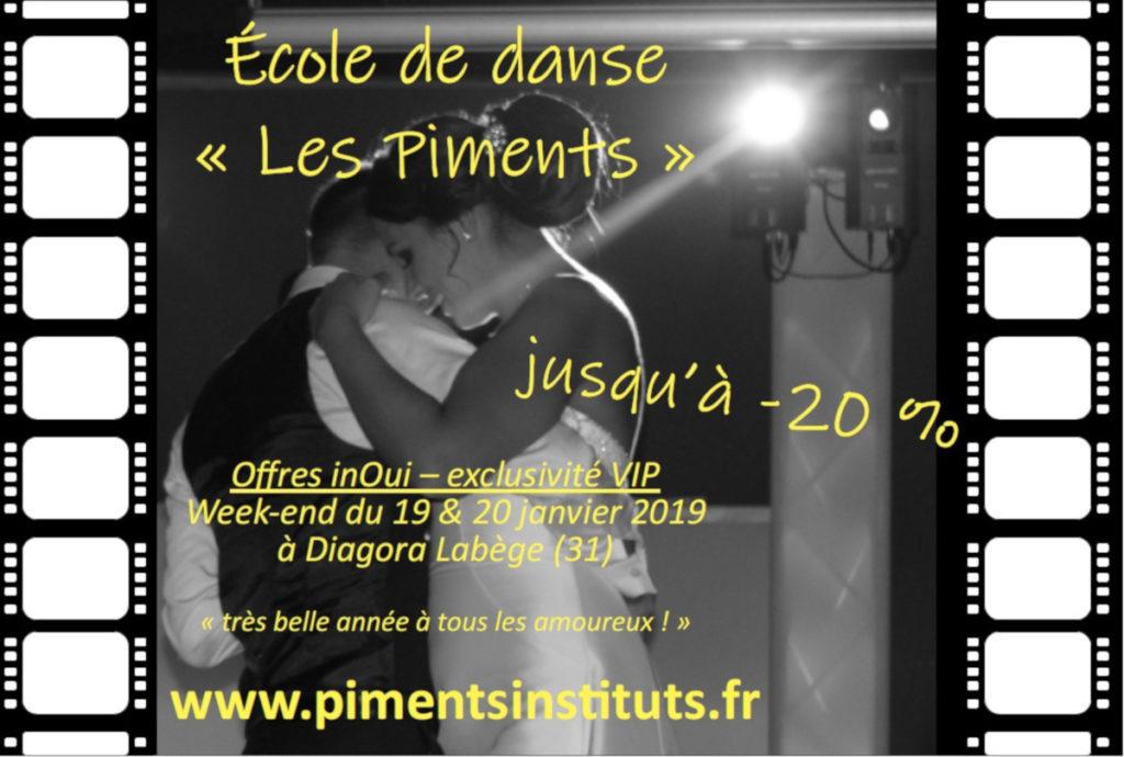 Ecole de Danse Les Piments, Offre Inouie 2019, Oui ! Salon du Mariage de Toulouse Diagora Labège