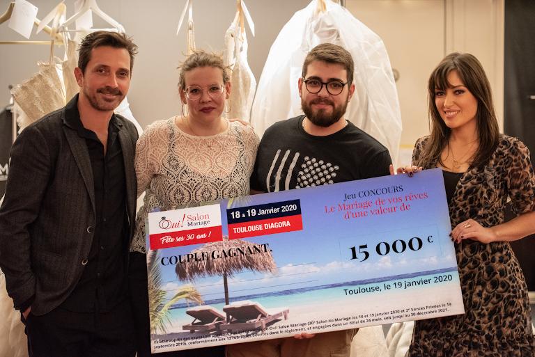 Le Couple gagnant du Mariage de Rêve, avec Sébastien Roch et Elsa Esnoult, 30ème Salon du Mariage de Toulouse Diagora 2020
