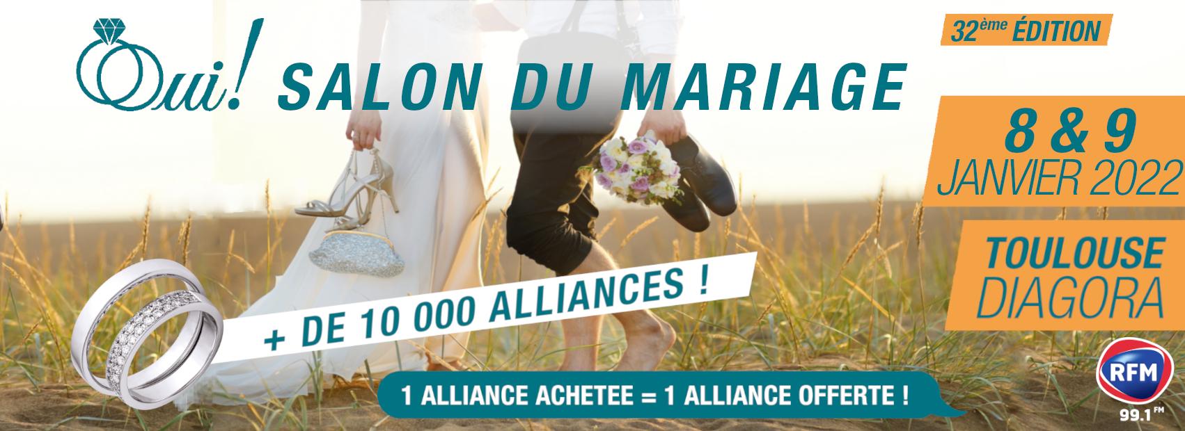 32ème édition du Salon du Mariage de Toulouse Diagora, 8&9 janvier 2022